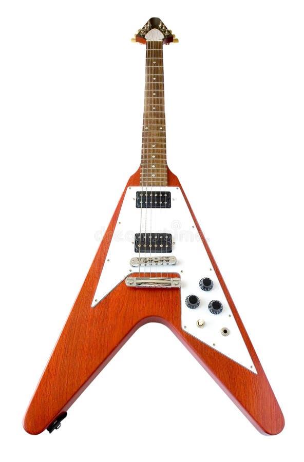 Klassische Gitarre des Flugwesen-V (Ausschnittspfad eingeschlossen) lizenzfreies stockfoto