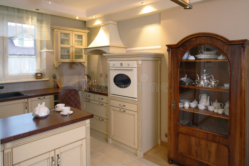 Klassische Küche stockbild