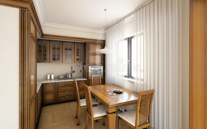 Klassische Küche stock abbildung