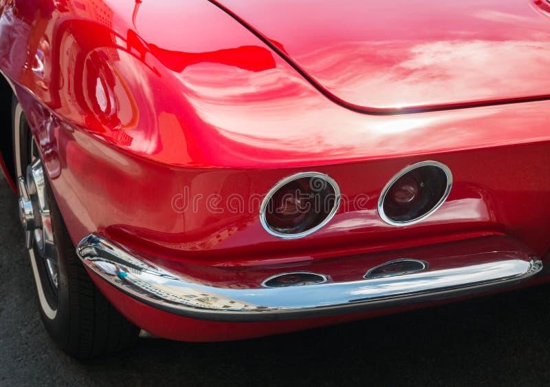 Klassische Korvette-Details stockfotos