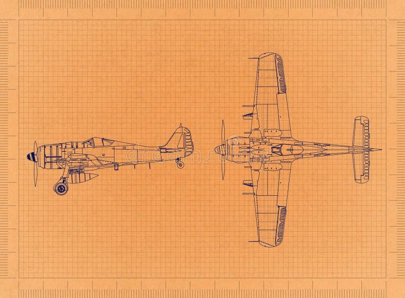 Klassische Militärfläche - Retro- Plan vektor abbildung