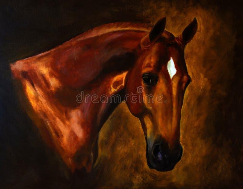 Klassische Pferdeportraitmalerei lizenzfreie stockbilder