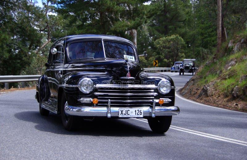 Klassische Plymouth-Limousine stockfoto