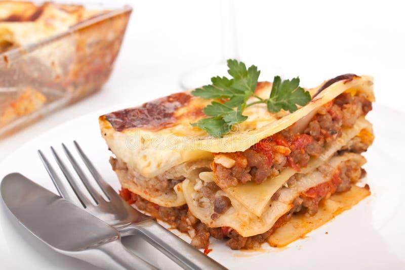 Klassische Rindfleisch-Lasagne lizenzfreies stockbild
