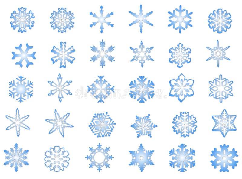 Klassische Schneeflocken #1 stockfotos