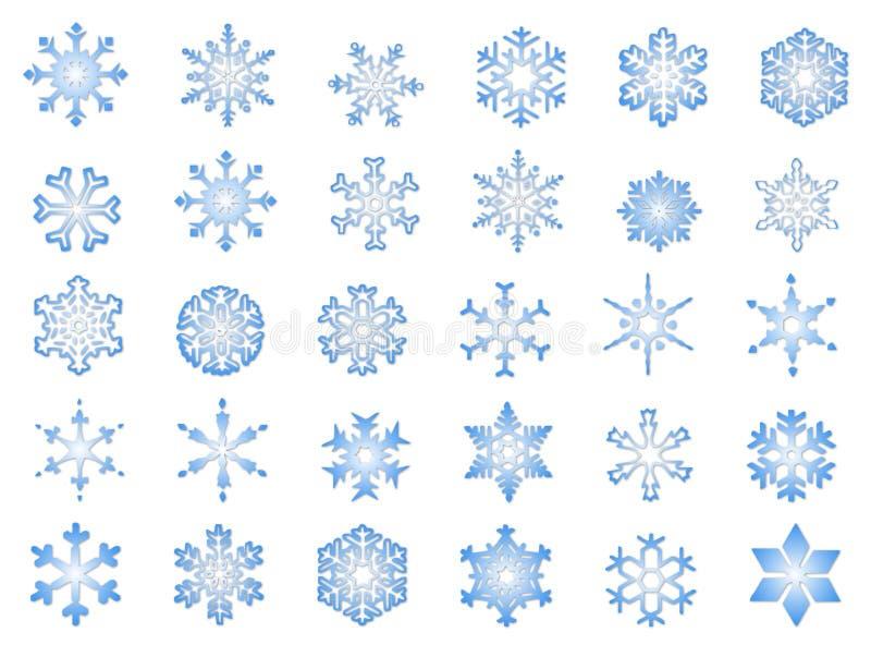 Klassische Schneeflocken #2 lizenzfreies stockbild