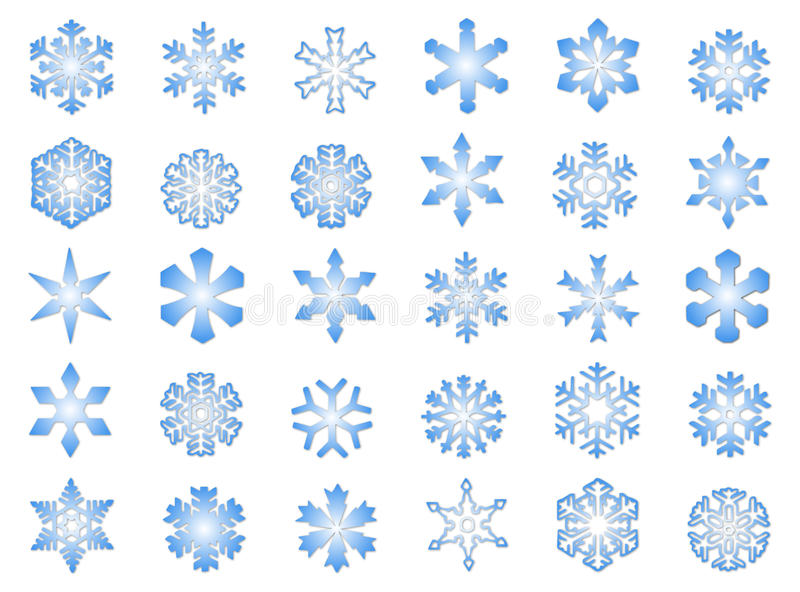 Klassische Schneeflocken #3 lizenzfreie stockfotografie