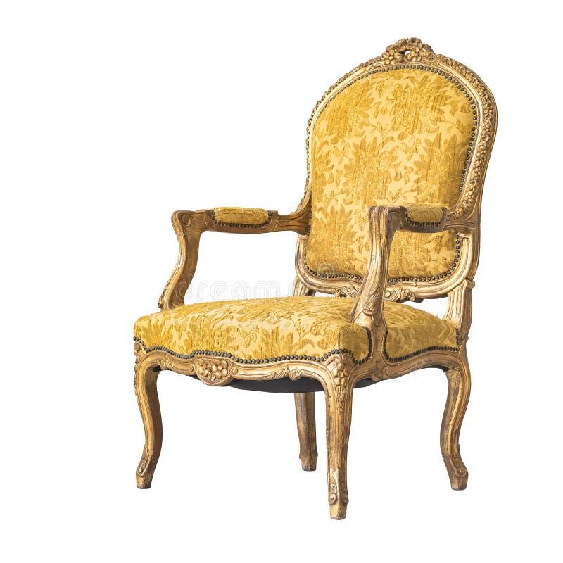 Klassische Stuhlart lokalisiert auf Weiß lizenzfreie stockfotos