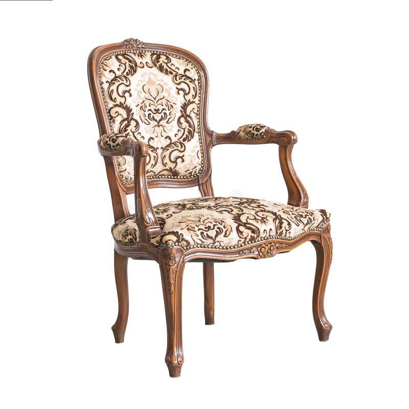Klassische Stuhlart lokalisiert auf Weiß lizenzfreies stockfoto