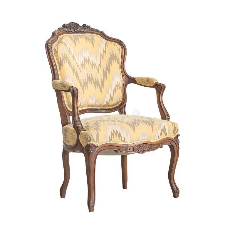 Klassische Stuhlart lokalisiert auf Weiß stockfotos