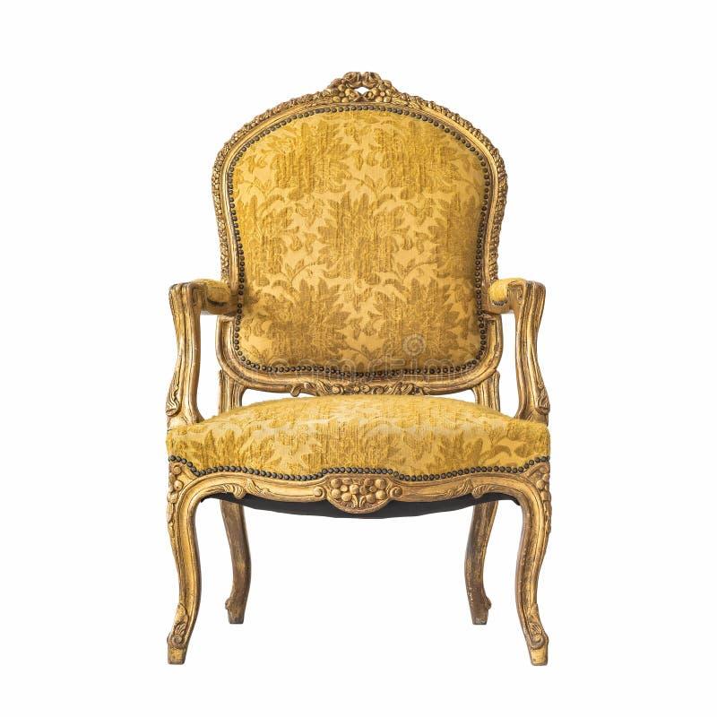 Klassische Stuhlart lokalisiert auf Weiß lizenzfreie stockbilder