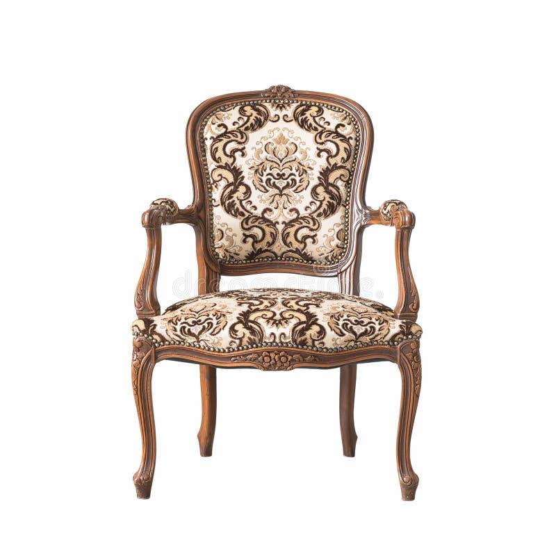 Klassische Stuhlart lokalisiert auf Weiß lizenzfreie stockfotografie