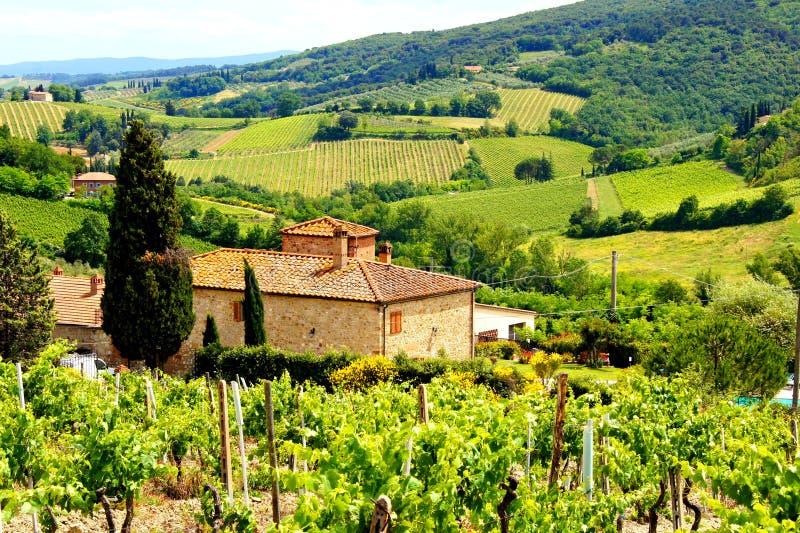 Klassische toskanische Landschaft lizenzfreie stockbilder