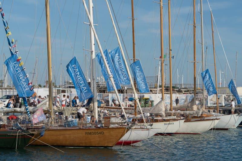 Klassische Yacht-Herausforderung Panerai, Imperia, Italien stockfoto