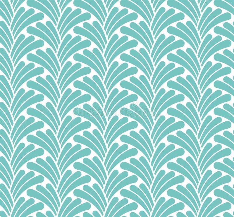 Klassischer Art Deco Seamless Pattern Geometrische stilvolle Beschaffenheit Abstrakte Retro- Vektor-Beschaffenheit vektor abbildung