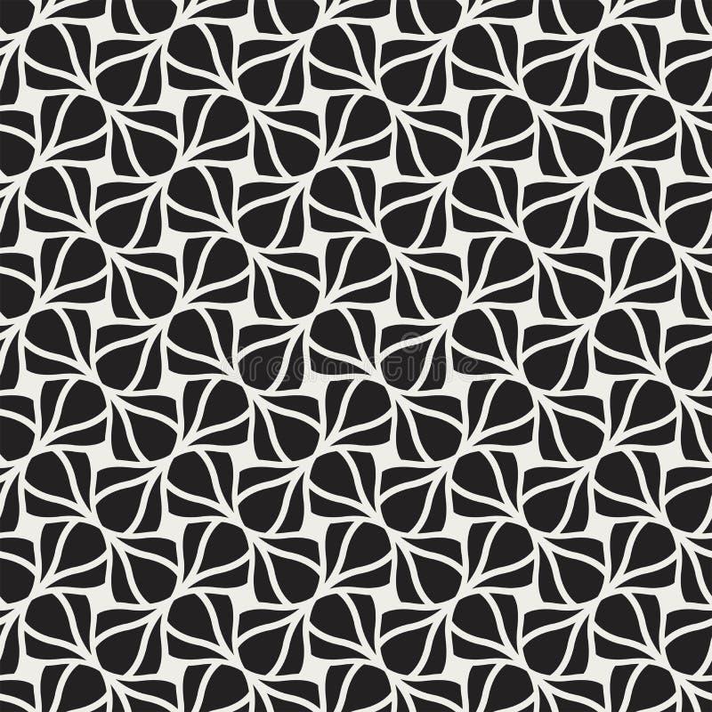 Klassischer Art Deco Seamless Pattern Geometrische stilvolle Verzierung Antike Beschaffenheit des Vektors stock abbildung