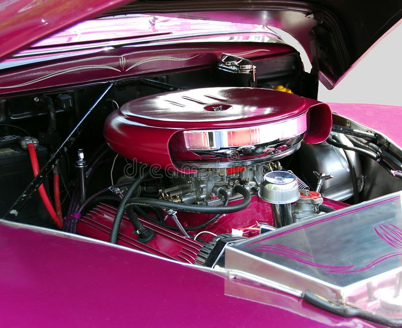 Klassischer Automotor stockbilder
