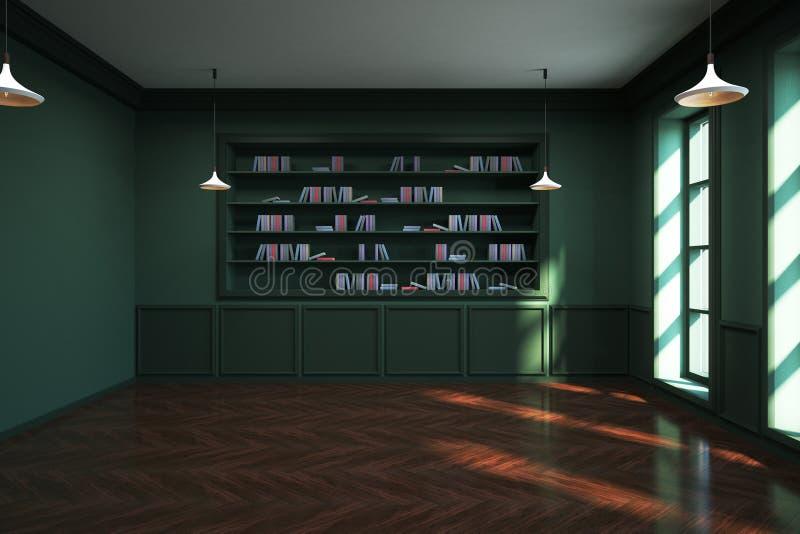 Klassischer Bibliotheksinnenraum vektor abbildung