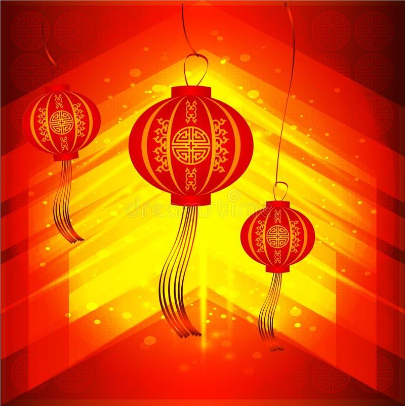 Klassischer chinesischer Hintergrund des neuen Jahres Chinesisches Schriftzeichen - Chun - Frühling Chinesischer neues Jahr-Hinte vektor abbildung