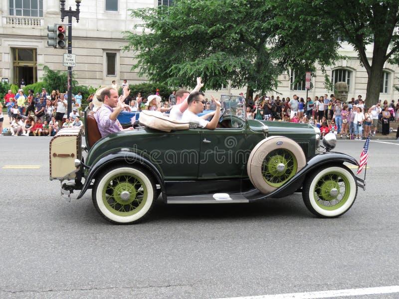 Klassischer Ford Model A an der Parade stockfotografie