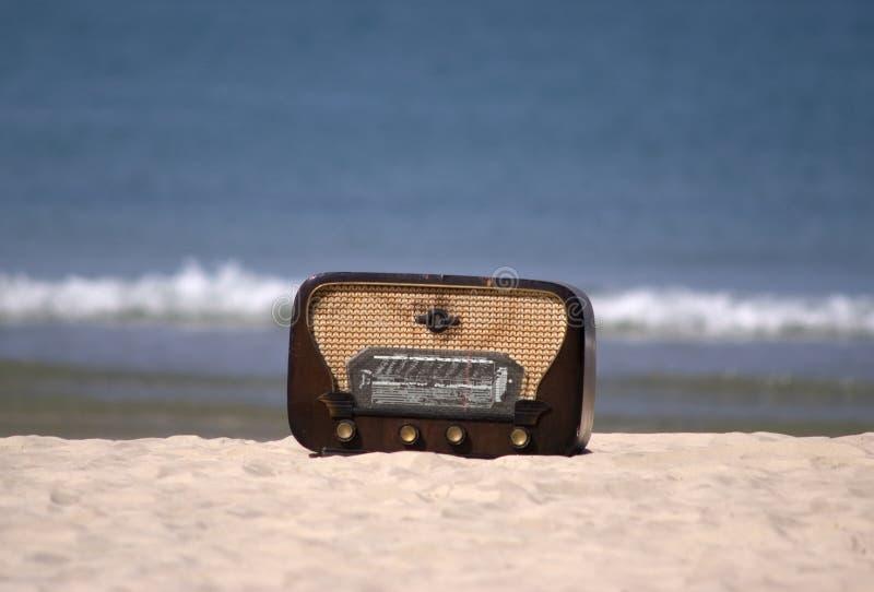 Klassischer Funk auf einem Strand lizenzfreies stockfoto