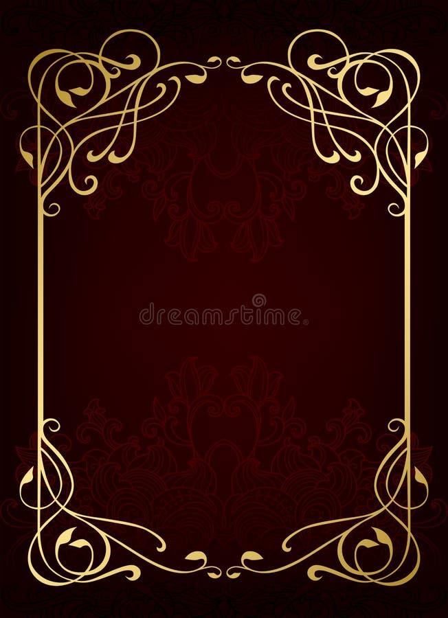 Klassischer goldener Luxusrahmen vektor abbildung