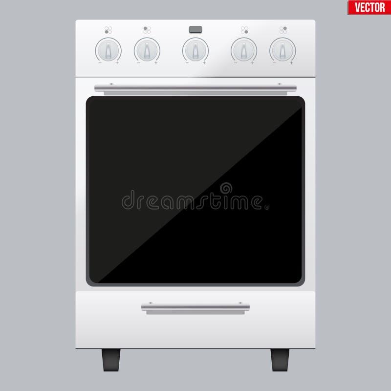 Klassischer Küchen-Ofen-Vektor stock abbildung