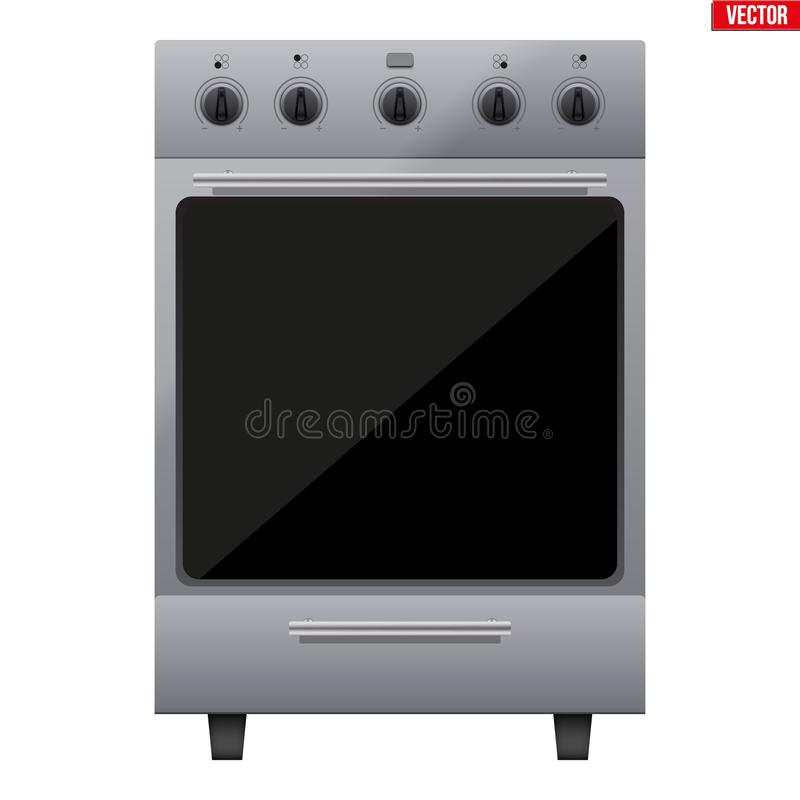 Klassischer Küchen-Ofen-Vektor lizenzfreie abbildung