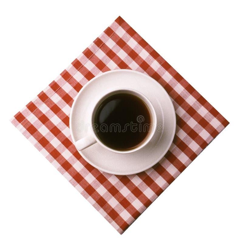 Klassischer Kaffee über Weiß Lizenzfreies Stockfoto