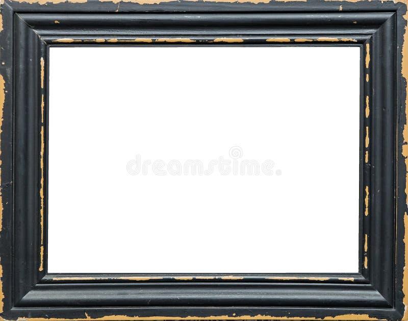 Klassischer leerer Bilderrahmen lokalisiert auf weißem Hintergrund stockfotos