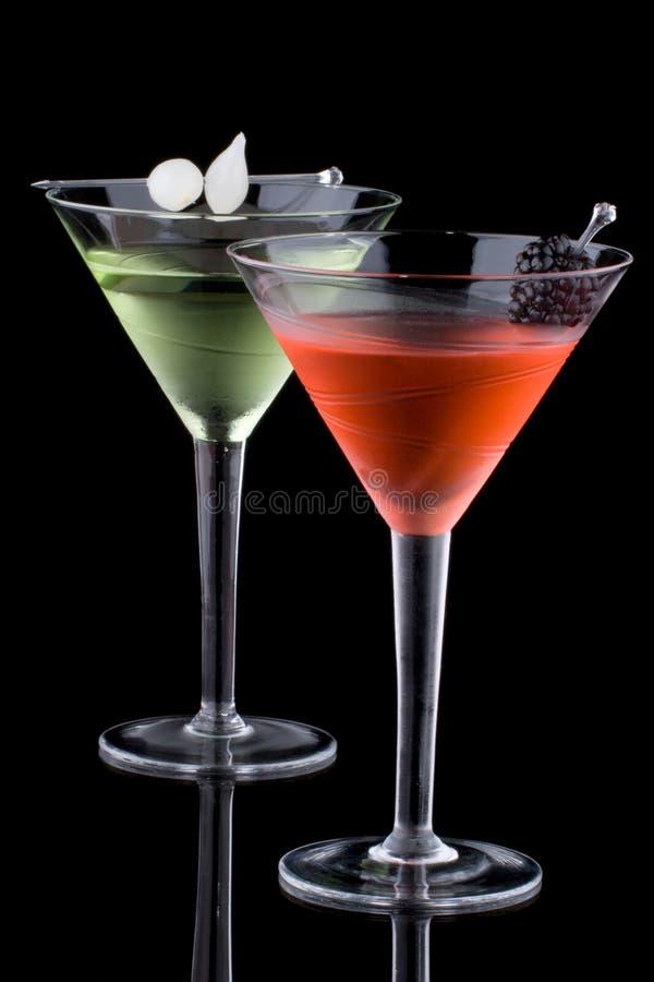 Klassischer Martini - die meiste populäre Cocktailserie lizenzfreie stockbilder