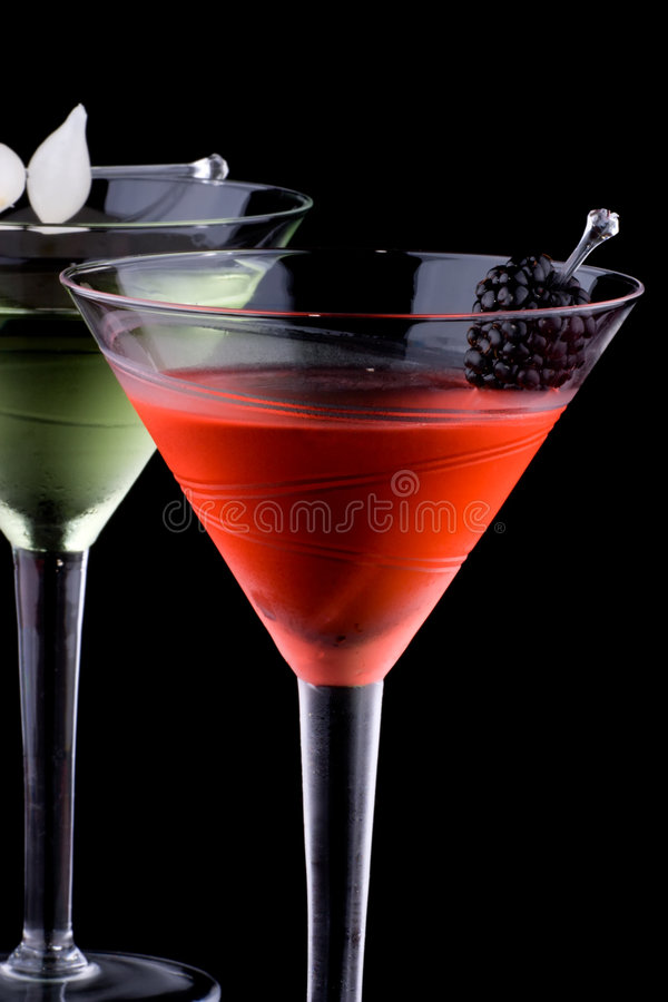 Klassischer Martini - die meiste populäre Cocktailserie stockbild