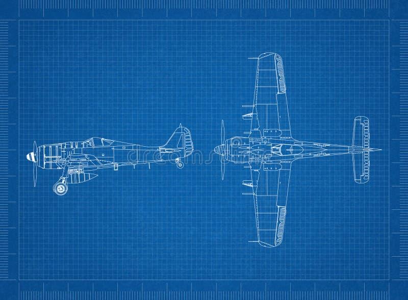 Klassischer militärischer flacher Plan vektor abbildung