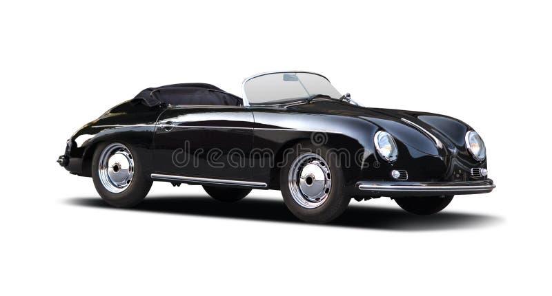 Klassischer Porsche-Raser 356 auf Weiß stockbilder