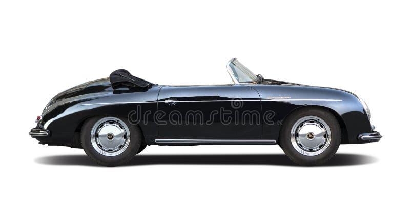 Klassischer Porsche-Raser 356 lokalisiert auf Weiß lizenzfreie stockfotos
