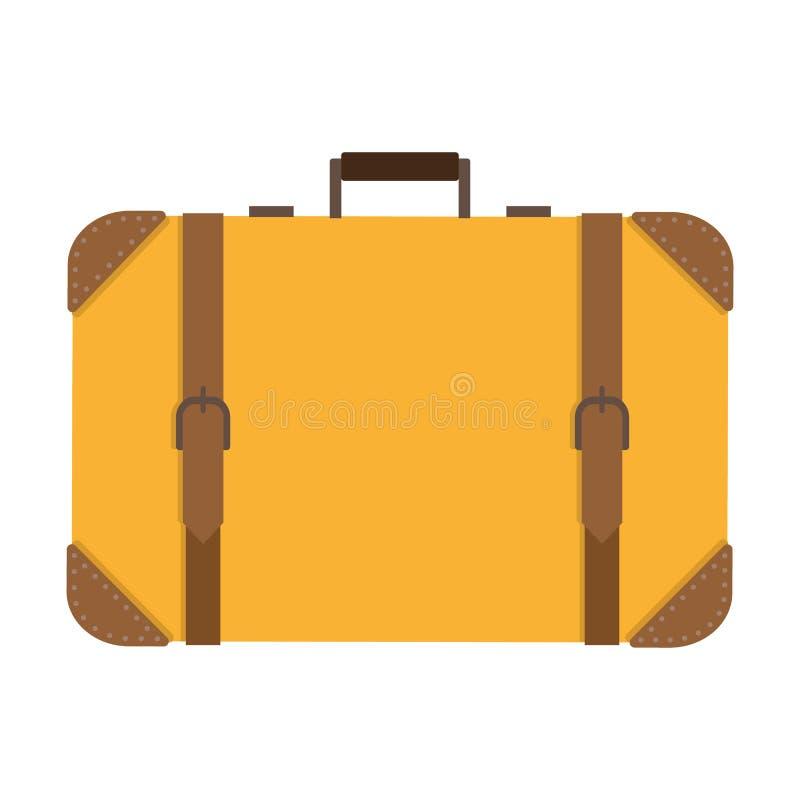 Klassischer quadratischer Koffer lizenzfreie stockbilder
