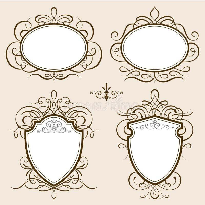 Klassischer Rahmen-Vektor vektor abbildung. Illustration von floral ...