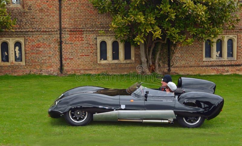 Klassischer schwarzer Lotus-Rennwagen I lizenzfreie stockfotos