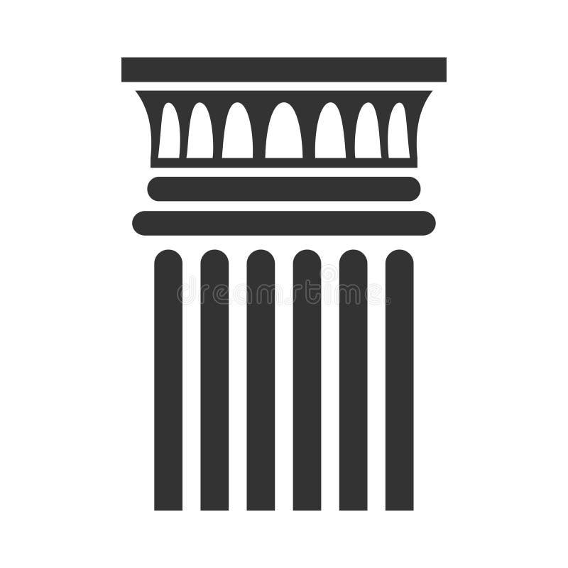 Klassischer Spaltenikonen-, Architektur- und Innenbau vektor abbildung