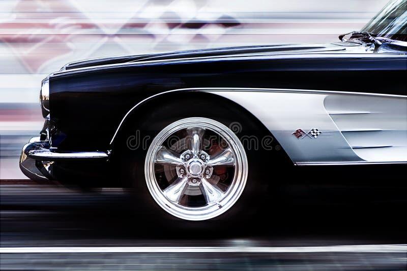 Klassischer Sportwagen stockfotos