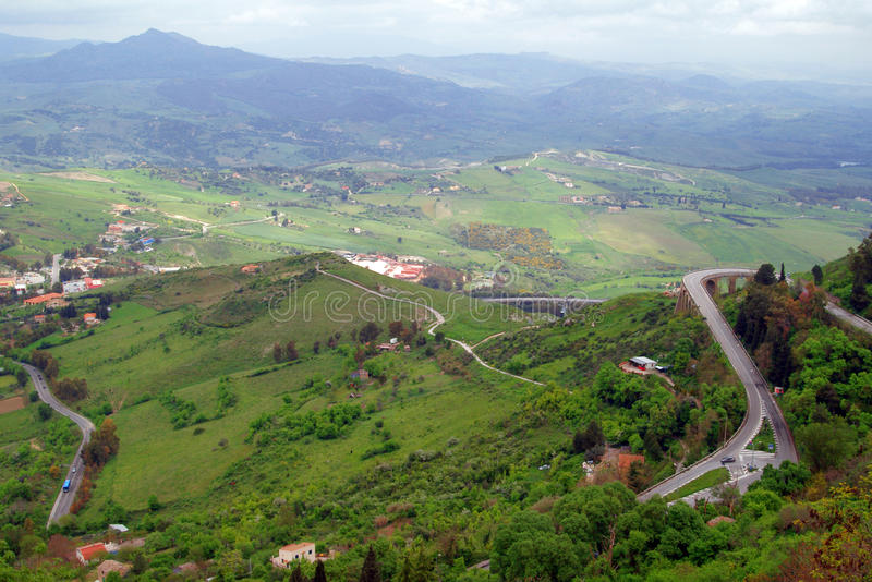 Klassisches altes Italien, Sizilien, Enna stockfotos