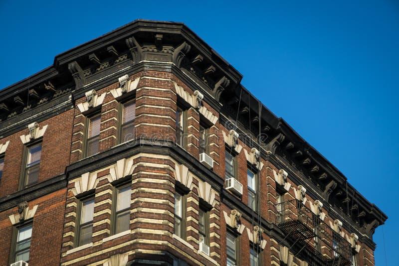 Klassisches altes Wohngebäude, New York City stockfotografie