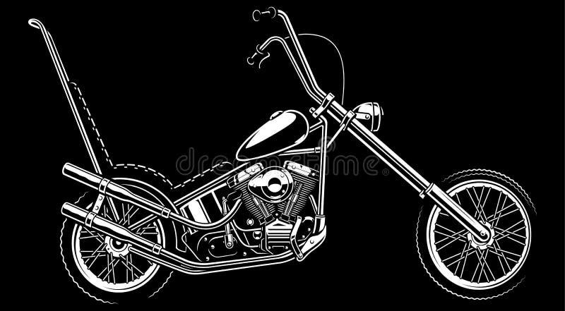 Klassisches amerikanisches Motorrad auf weißem Hintergrund vektor abbildung
