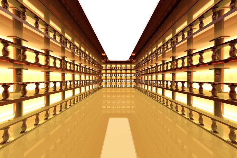 Klassisches antikes Atrium lizenzfreie abbildung