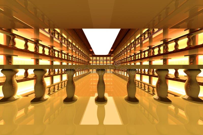 Klassisches antikes Atrium stock abbildung