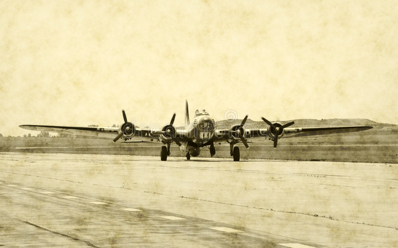 Klassisches Bomberflugzeug stockfotos