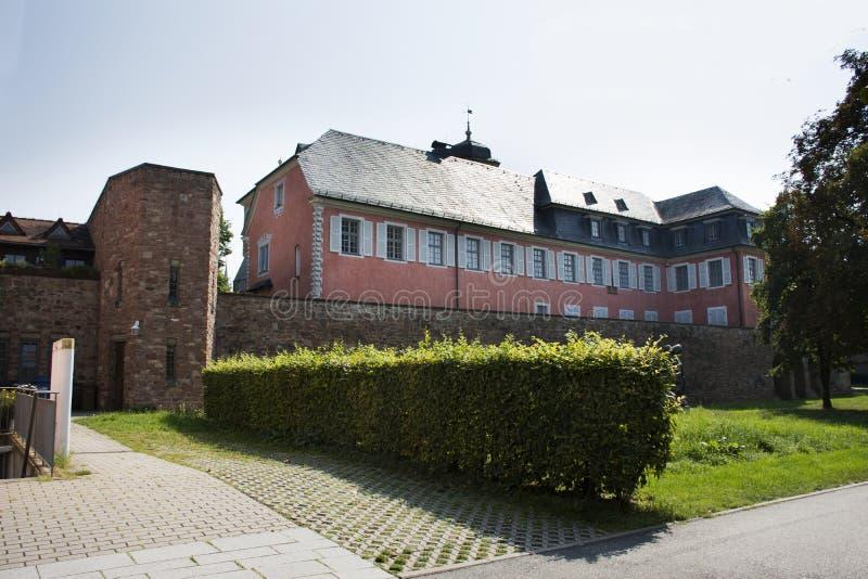 Klassisches errichtendes Lobdengau-Museum an Ladenburg-Stadt in Baden-wurttemberg, Deutschland lizenzfreies stockbild