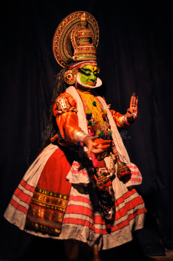 Klassisches indisches Drama in Kerala lizenzfreies stockbild