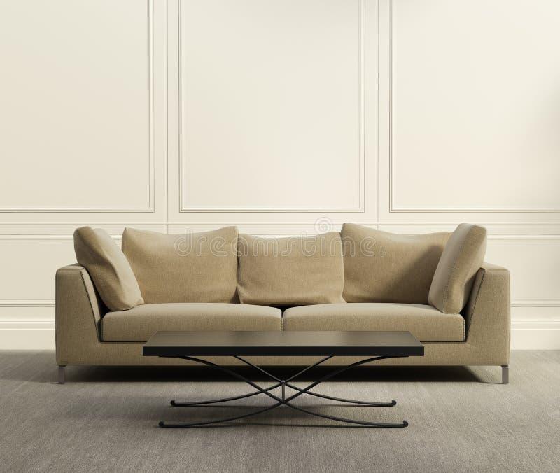 klassisches Luxuswohnzimmer 3d lizenzfreie stockbilder