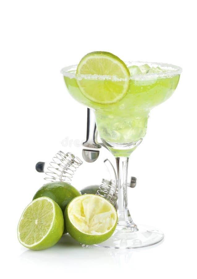 Klassisches Margaritacocktail mit salziger Kante stockbilder